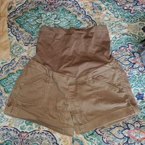Maternity High Waist Shorts
